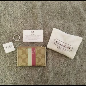 NWT Coach Mini Skinny Wallet in Coated Canvas